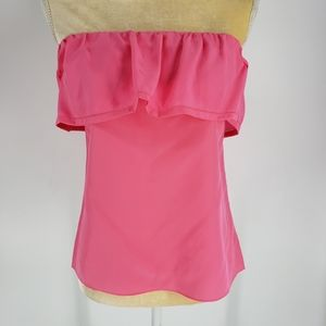 Lilly Pulitzer Ginny Strapless 100% Silk Top NWT